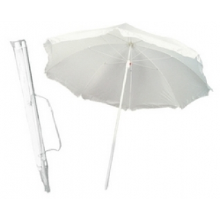 Зонт 2,4 м с поворотом белый-6822489