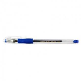 Ручка гелевая CROWN HJR-500R 0,5мм. рез. манж. синий