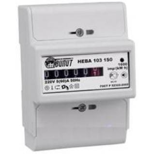 Счетчик электроэнергии 220В однотарифный 60-5А Тайпит Нева103 электромеханический, монтаж на дин-рейку-8167208