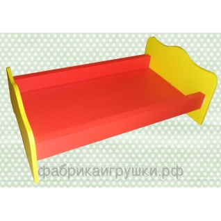 Кроватка для кукол деревянная (50х30х16 см) (арт. ИО-103)