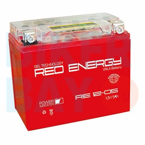 Аккумуляторная батарея 12V5Ah (114х70х106) (гелевая, необслуж.) RED ENERGY-6403464