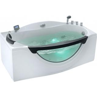 Акриловая ванна Gemy с гидромассажем (G9072 K)-6822365