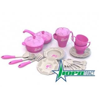 """Набор кухонной и чайной посудки """"Барби"""", 21 предмет Нордпласт-37742435"""
