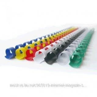 Пластиковые пружины 6 мм для переплета (21 кольцо), синий