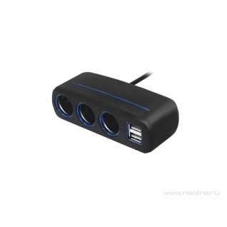 Разветвитель на 3 прикуривателя и 2 USB Neoline SL-321 Neoline-5961243