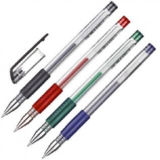 Ручка гелевая Attache Gelios-010, набор 4 цвета, 0,5мм