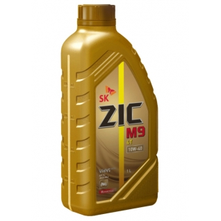 Моторное масло ZIC M9 4T 10W40 1л для 4-х тактных двигателей