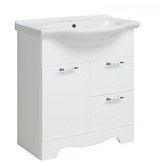 Тумба для ванной Runo Кантри 75 без Раковины (Дрея 75) Белая