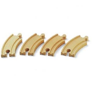 Набор закругленных полотен для деревянной ж/д, 4 детали Brio-37707673