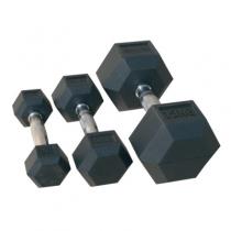 Johns Комплект гантелей, гексагональные обрезиненные JOHNS, 22.5-30 кг 72014