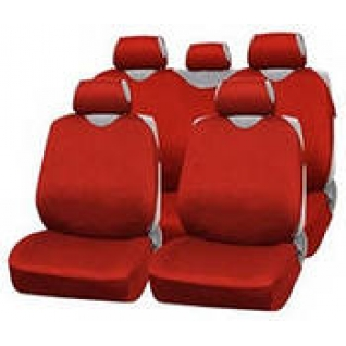 VW Polo sedan 2010- / Фольксваген Поло седан 2010- Чехлы майки AUTOPROFI R 1 Sport красные-415106