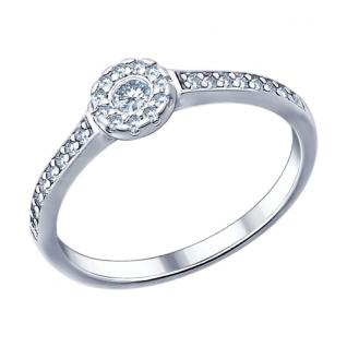 Кольцо из серебра с фианитом SOKOLOV 94011444
