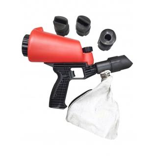 Пескоструйный пистолет со встроенной емкостью для песка 1л и резиновыми насадками (4шт) Forsage-6002632