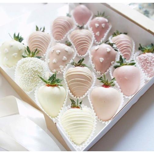 """Клубника в шоколаде """"Розовый градиент"""" (уп/16 шт)-7205116"""