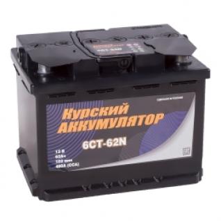 Автомобильный аккумулятор Курский Аккумулятор Курский 62L 480А прямая полярность 62 А/ч (242x175x190)