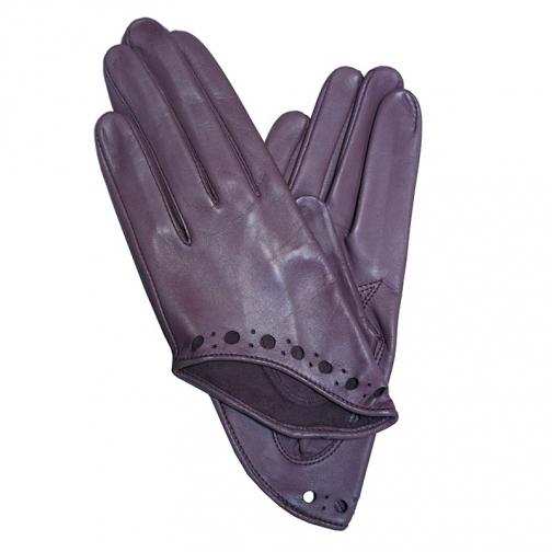 Edmins Перчатки женские кожаные Edmins Э-Арт5 мод. 467 фиолетовый-5992459