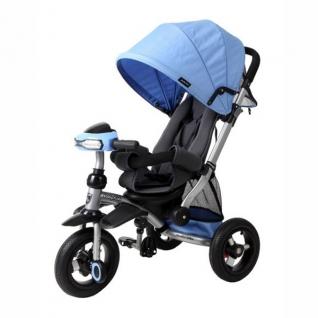 Трехколесный велосипед-коляска Stroller Trike Air (свет, звук), синий Moby Kids-37714810