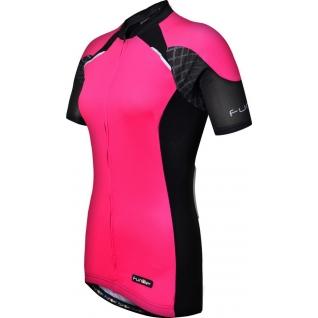 Велофутболка FunkierBike женская WJ-730-1 Pink розово-черная M-1999379