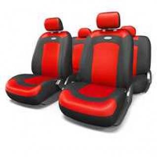 Nissan Almera II / Ниссан Альмера II седан 2000-2011 Чехлы AUTOPROFI Extreme универсальные черные/красные-433829