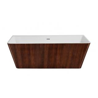 Отдельно стоящая ванна LAGARD Vela Brown wood