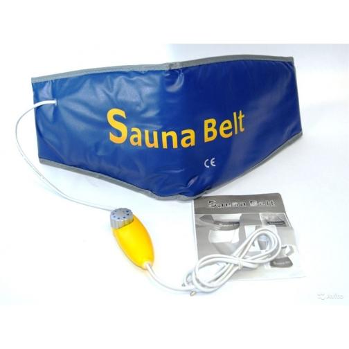 """Пояс Для Похудения С Эффектом Сауны, Синий """"Сауна"""" Sauna Belt, Blue-832191"""