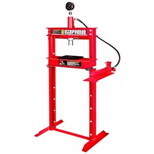 Пресс гидравлический 12т с манометром (ход поршня 175мм,диапазон работ 0-920мм) Big Red-6004241