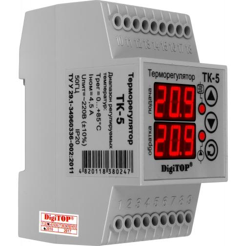 Терморегулятор DigiTOP ТК-5 (крепление на DIN-рейку)-6775761