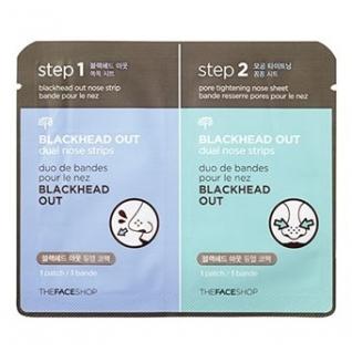 THE FACE SHOP - Полоски очищающие для носа Blackhead Out Dual Nose Strips-2146567