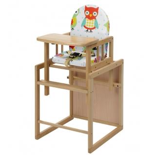Стул Geuther Высокий стул-трансформер Geuther Nico натуральный/ с совами-1962642
