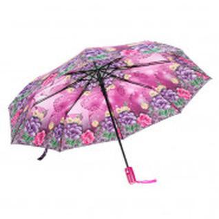 Зонт полуавтоматический Распустившаяся роза, R=49см, цвет зелёный 3550202