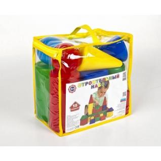 """Пластиковые кубики """"Строительный набор"""", 15 деталей Десятое Королевство-37731700"""