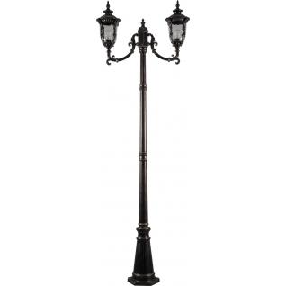 Садово-парковый столб Feron PL5018 2*100W 230V E27 темно-коричневое золото-8183331