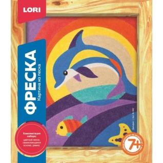 """Фреска из песка """"Дельфин"""" LORI-37713592"""