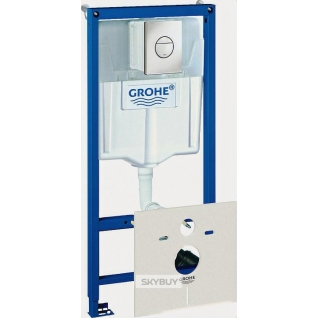 Система инсталляции для унитазов Grohe Rapid SL 38813001 4 в 1 с кнопкой смыва-37949502