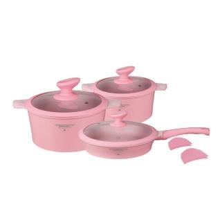 Набор посуды из литого алюминия с покрытием под мрамор MercuryHaus, 10 предметов-37774479