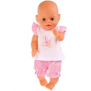 Одежда для кукол 'Карапуз' 40-42см, розовый костюм шорты и маечка 'царевна лебедь' в пак в кор.100шт-37797074