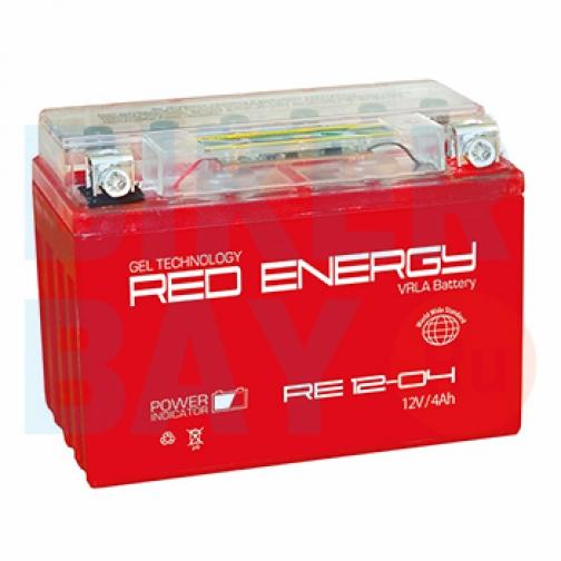 Аккумуляторная батарея 12V4Ah (114x70x87) (гелевая, необслуж.) RED ENERGY-6403466