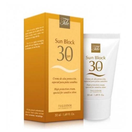 Tegoder Sun Block SPF-30 - Солнцезащитный крем для лица SPF-30 (с тонирующим пигментом)-4942032