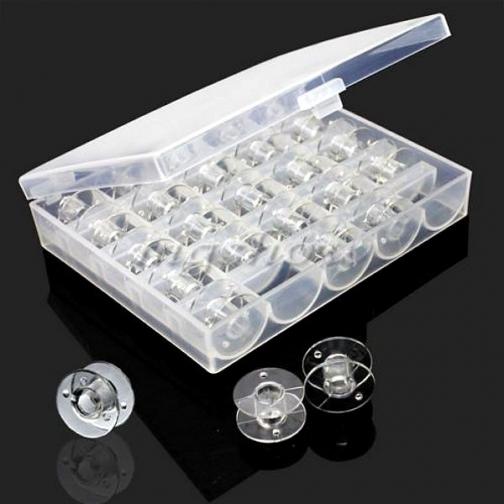 Шпульки универсальные, для швейной машинки, 25 шт. в органайзере-6035211