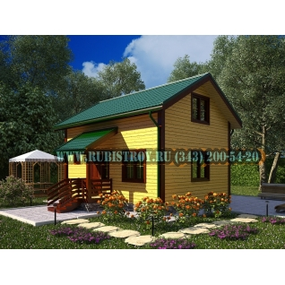 Дачный дом по проекту СТТ-19, из обрезного бруса сечением 150 х 150 мм., площадь 85,0 кв.м., размер 6,0 х 8,0 м.