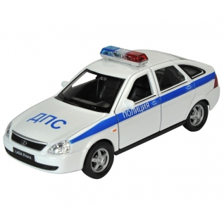 Коллекционная модель Lada Priora - Полиция, 1:34-39 Welly-37725881