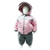 Комплект: куртка и полукомбинезон, Зимний, Розовый