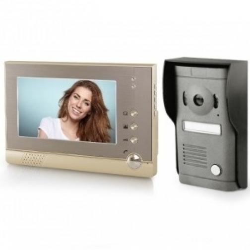 Комплект видеодомофона для квартиры, частного дома с вызывной панелью и записью на карту SD PST-VD975C-5006127