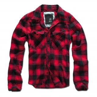 Brandit Рубашка Brandit в клетку, цвет черно-красный-5023934