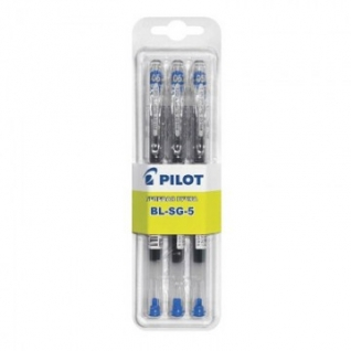 Ручка гелевая PILOT BL-SG5 однораз.синяя 0,3мм 3шт/бл Япон