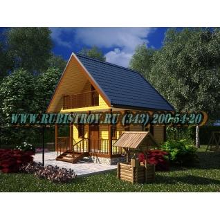 Дачный дом по проекту СТТ-29из обрезного бруса, сечением 150 х 150 мм., площадь 54,0 кв.м., размер 6,0 х 6,0 м.-465219