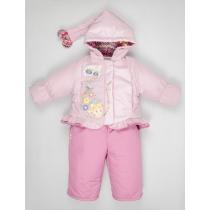 Комплект: Куртка + Полукомбинезон, Розовый