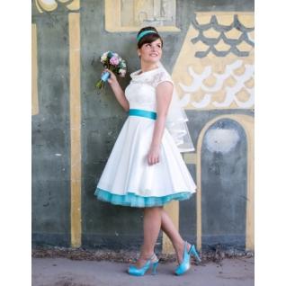 Платье свадебное Короткие свадебные платья⇨Ретро К-661952