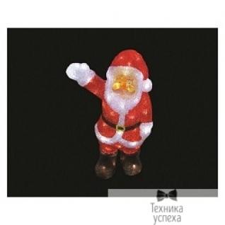 "Neon-night NEON-NIGHT (513-273) Акриловая фигура ""Санта Клаус приветствует"" 30 см, 40 белых светодиодов"