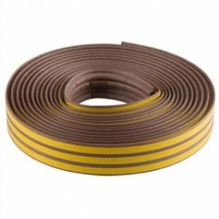 Уплотнитель резиновый коричневый, профиль Р, самоклеящийся, 16м 40932-016-8169051